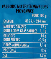 Filets de Cabillaud façon Fish'n Chips - Voedingswaarden - fr