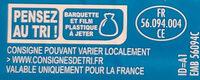 Filets de Cabillaud façon Fish'n Chips - Recyclinginstructies en / of verpakkingsinformatie - fr