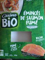 Emincés de saumon fumé BIO au pavot - Product - fr