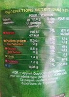 Galettes de maïs complet Bio - Voedingswaarden