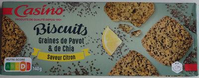 Biscuits graines de pavot et de chia saveur citron - Prodotto - fr