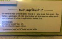 Pâte feuilletée sans gluten - Ingrédients
