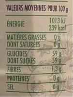 Confiture de Myrtille - Valori nutrizionali - fr