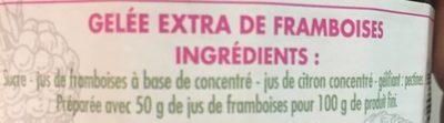 Gelée de framboises - Ingredients