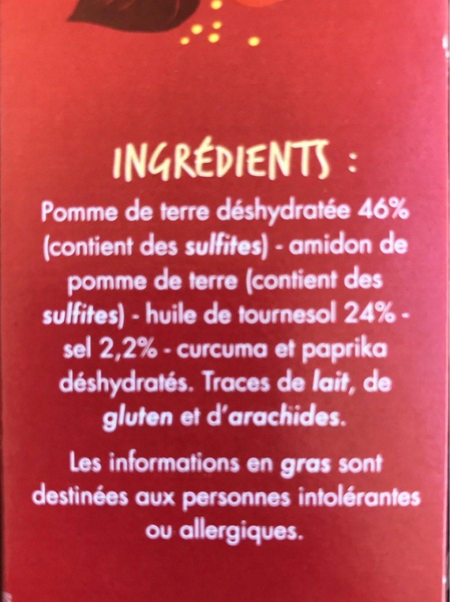 Pétales gout Salé - A l'huile de tournesol - Ingrédients - fr