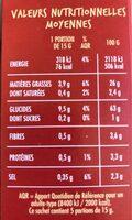 Pétales gout Salé - A l'huile de tournesol - Informations nutritionnelles - fr