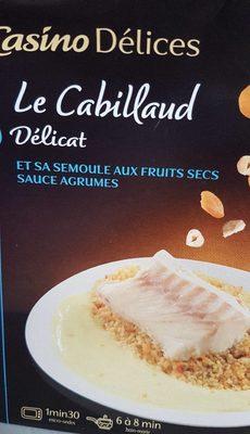 Cabillaud sauce agrumes et semoule aux fruits secs - Product