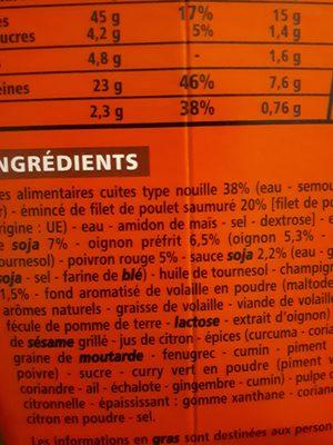 Box nouilles poulet et légumes recette asiatique - 2