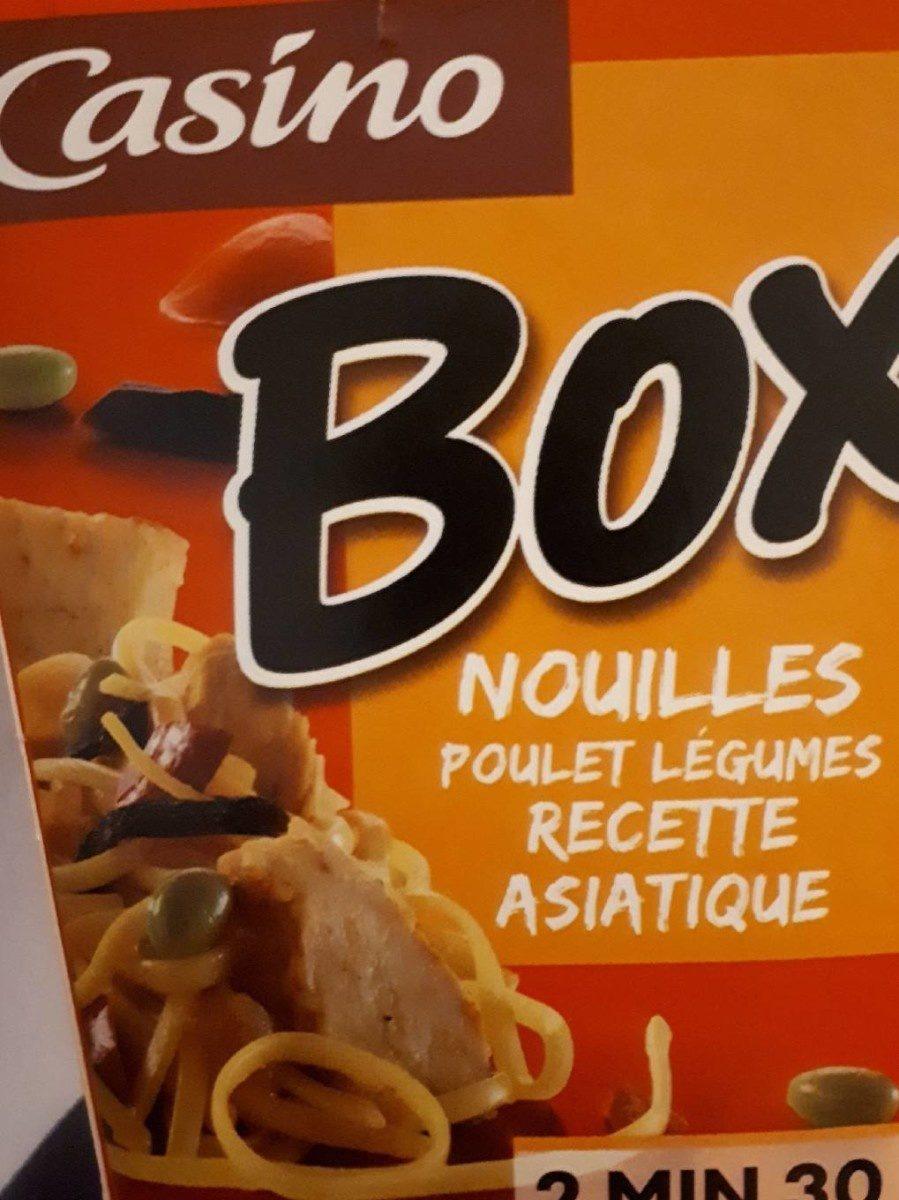 Box nouilles poulet et légumes recette asiatique - Product