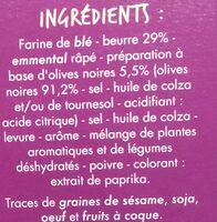 Palmiers goût Olives noires - Ingrediënten - fr