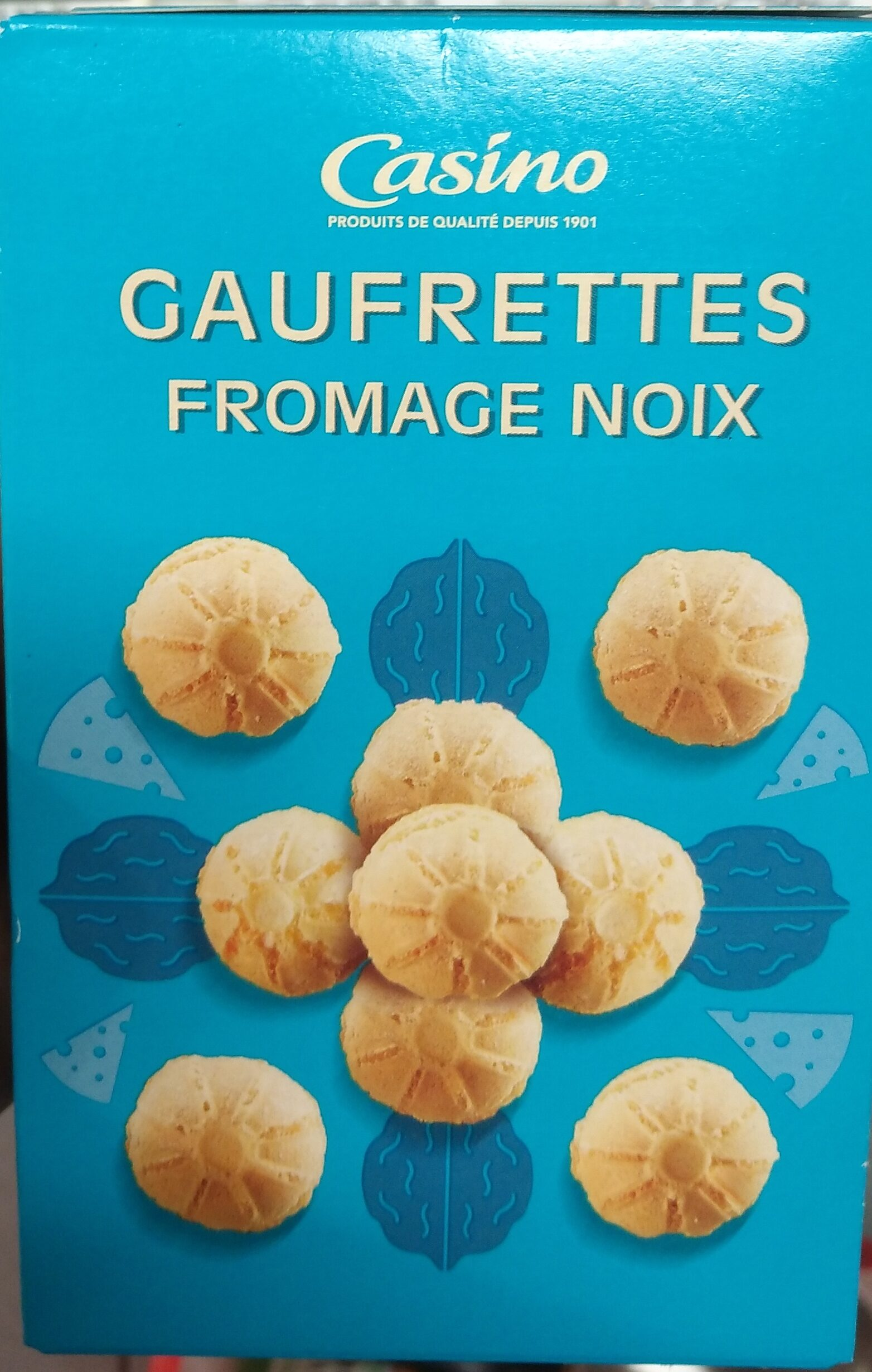Gaufrettes fromage noix - Product - fr