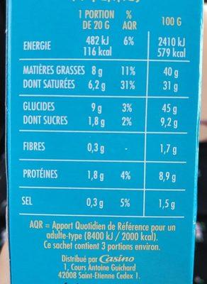 Gaufrettes fromage noix - Informations nutritionnelles