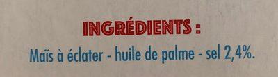 Popcorn salé microondes - Ingredienti - fr