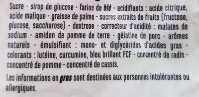 Funky bats - Ingrédients - fr
