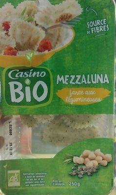 Mezzaluna farce aux légumineuses BIO - Spécialités céréalières à base de semoule de blé dur et de sarrasin avec farce aux légumineuses - Produit - fr