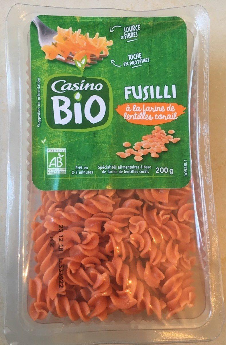 Fusilli à la farine de lentilles corail BIO - Spécialités alimentaires à base de farine de lentilles corail - Product - fr