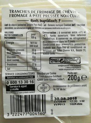 Fromage de chèvre Sandwich et Apéritif - Ingrediënten - fr