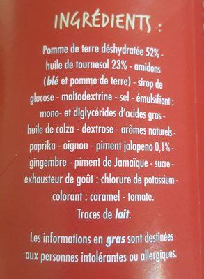 Tuiles goût Epicé - Ingredients
