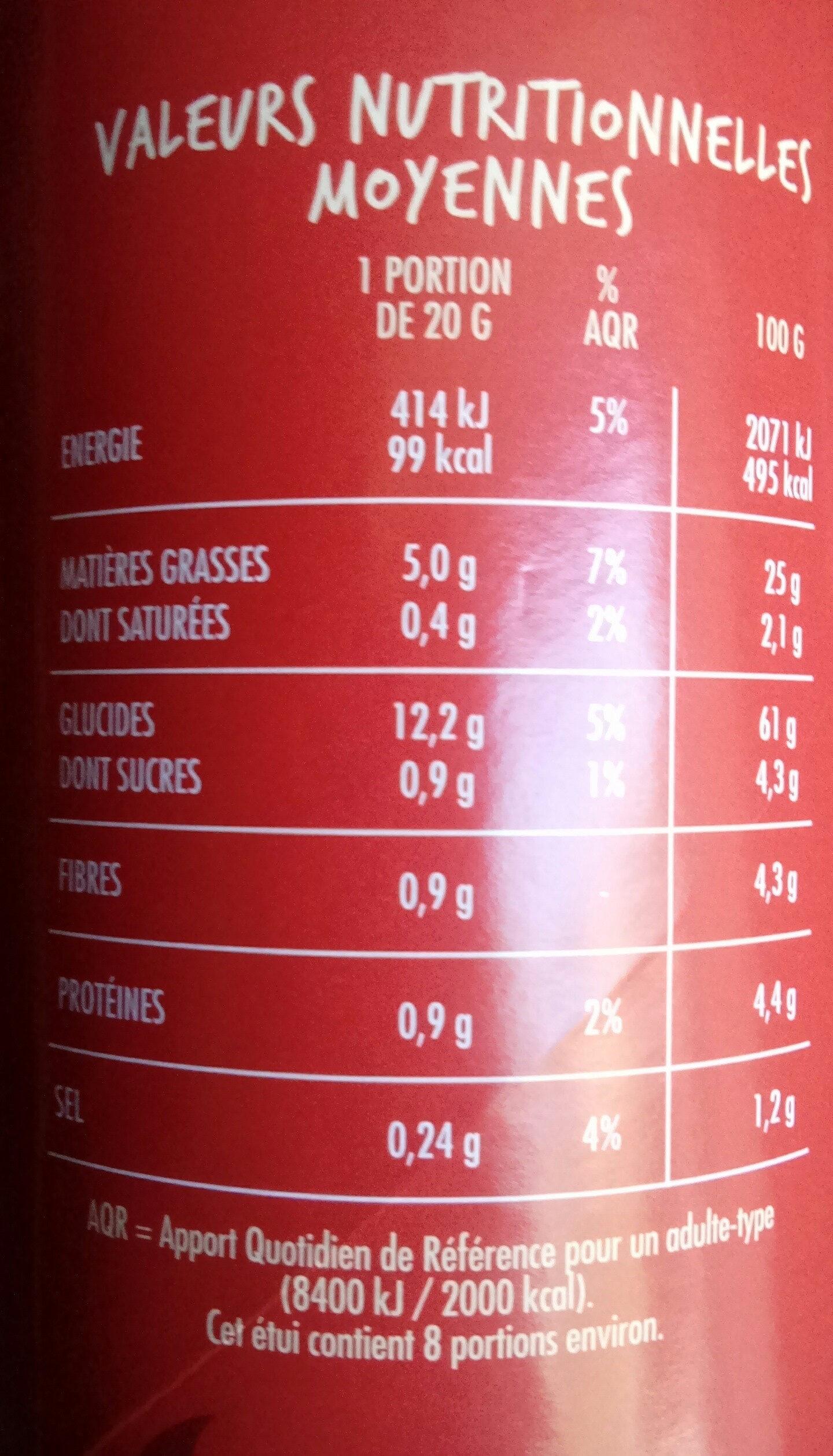 Tuiles goût Epicé - Nutrition facts