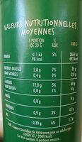 Tuiles goût pizza - Informations nutritionnelles - fr