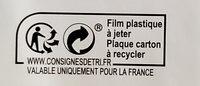 Pizza Jambon et Fromages - Recyclinginstructies en / of verpakkingsinformatie - fr