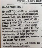Pizza fromages - Ingredients