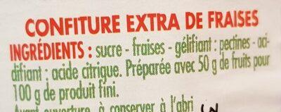 Confiture de Fraises - Ingrediënten
