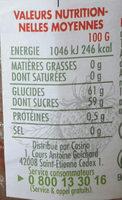 Confiture de Fraises - Voedingswaarden