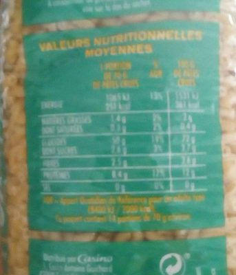 Coquillettes - Nutrition facts