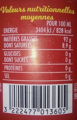 Huile de friture - Informations nutritionnelles - fr