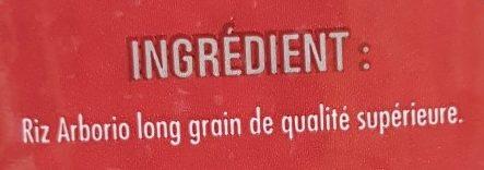 Arborio riz pour risotto - Ingrédients - fr