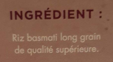Riz Basmati parfumé 10mn casino - Ingredienti - fr