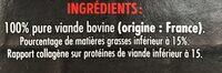 4 steaks hachés pur boeuf 15%MG - Ingrédients