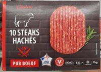 10 steaks hachés pur boeuf 15% - Prodotto - fr