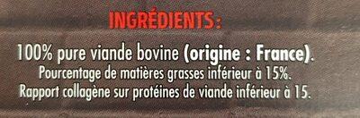 10 steaks hachés pur boeuf 15% - Ingredienti - fr