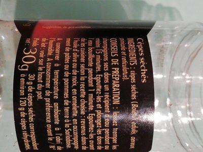 Cèpes déshydratés - Ingredients