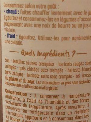 Mélange de légumes secs - Ingredients