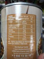 Mélange de légumes secs - Nutrition facts