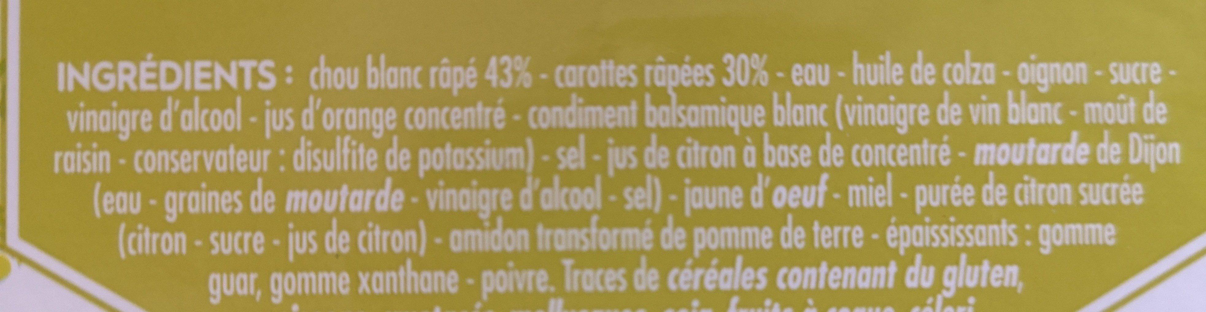 Coleslaw - Ingrédients - fr