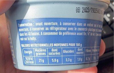 DIPS DE THON  AILS ET FINES HERBES - Voedingswaarden - fr
