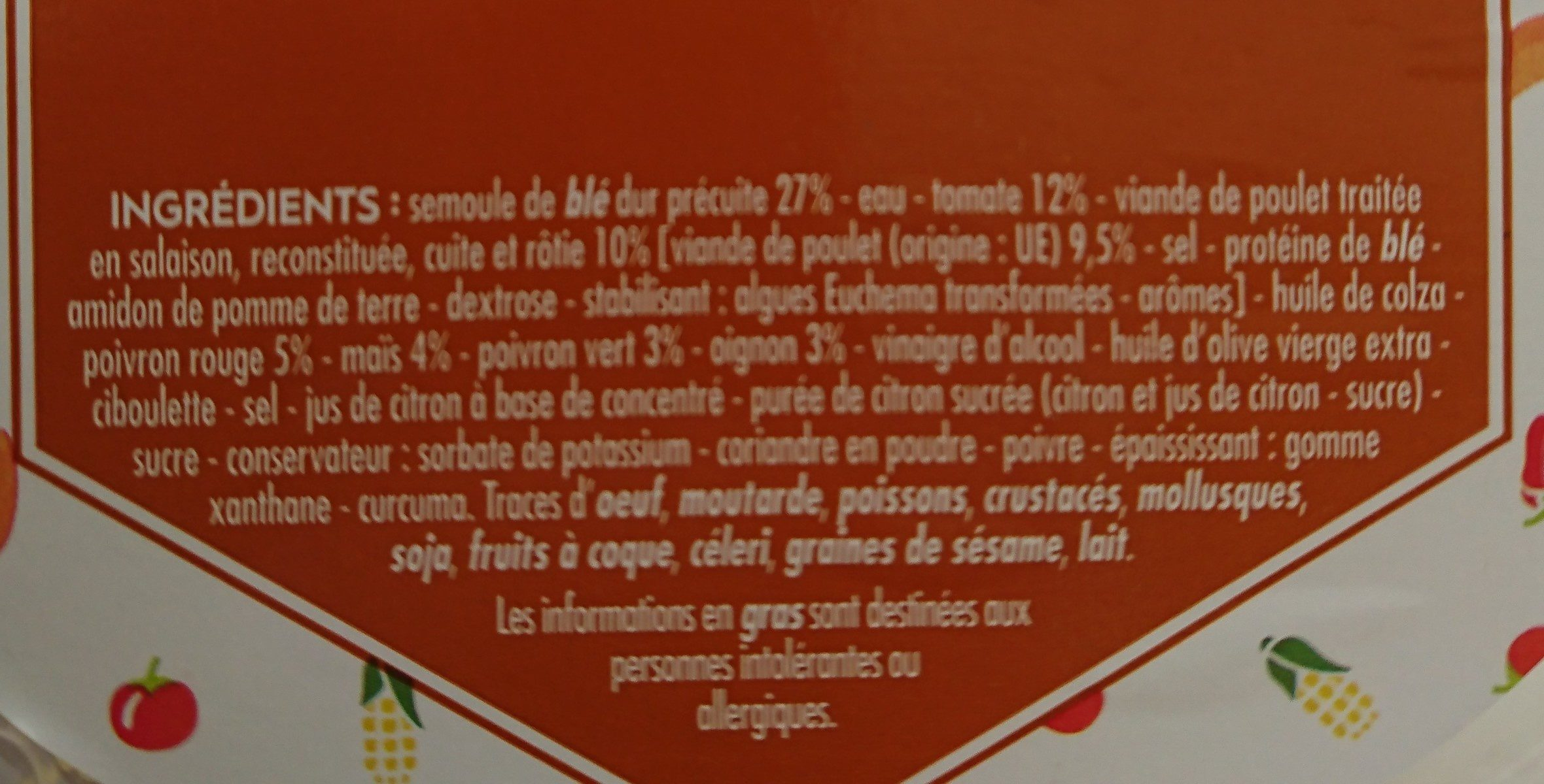Taboulé au poulet rôti - Ingredients
