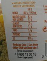 Taboulé au poulet rôti - Nutrition facts