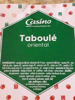Taboulé oriental - Ingredients - fr