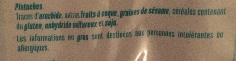 Pistaches - Ingrédients - fr