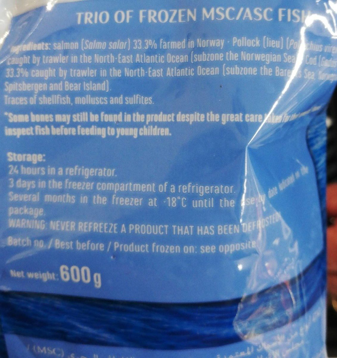 Trio de poisson MSC/ASC - Inhaltsstoffe
