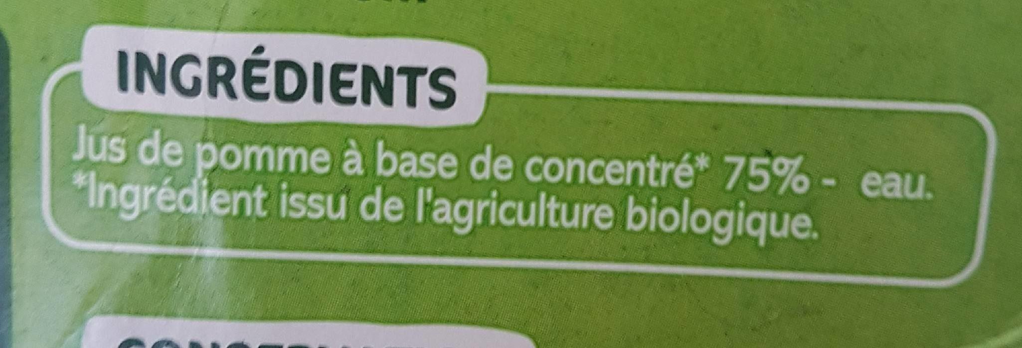 Nectar pomme - Ingredienti - fr