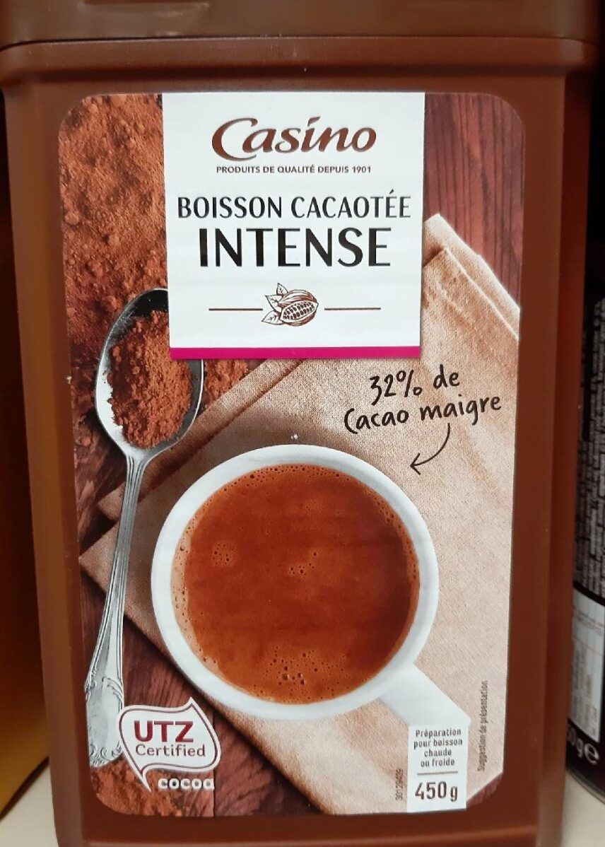 Boisson cacaotee intense - Product - fr
