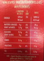 Craquines graines - Nutrition facts - fr