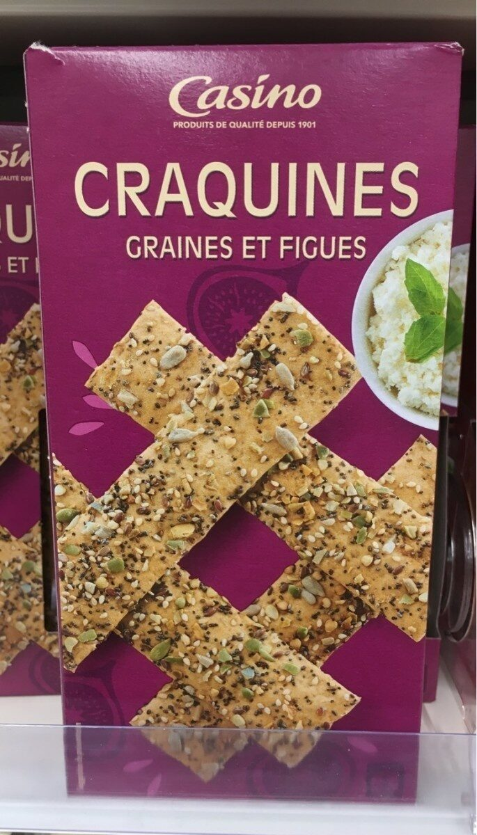 Craquines Figues et Graines - Produit - fr