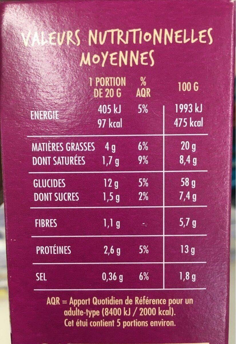 Craquines Figues et Graines - Informations nutritionnelles - fr